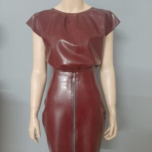 Seductive Blouse_Zip Skirt_pflaume_Maniac Latex