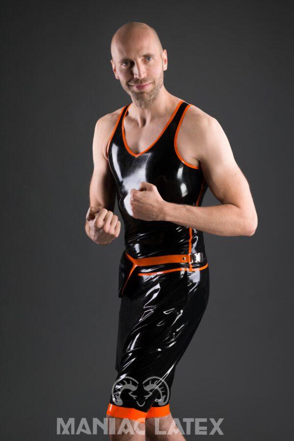 Athletic Tanktop_Crotch Pants Short_Belly Bag_Aries_Maniac Latex
