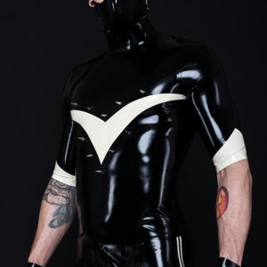 Flash Top_Rhino Mask (2)_Spikes'n'Stripes_Maniac Latex