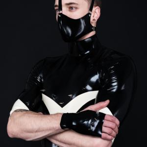 Flash Top_Rhino Mask_Spikes'n'Stripes_Maniac Latex