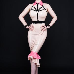 Rose Dress_Star Harness_Spikes'n'Stripes_Maniac Latex