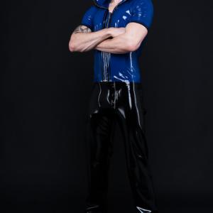 Zip Hoodie_Craftmans Trousers_Spikes'n'Stripes_Maniac Latex