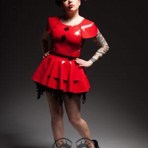 Pupas Top_Ballerina Skirt_The Rising_Maniac Latex